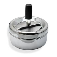 Medium 9.5cm Budget Spinning Ashtray, Polished Chrome AS11