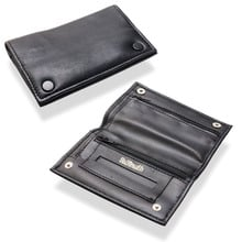 Dr Plumb Black Leather Small Double Wallet Leather Tobacco Pouch P35521