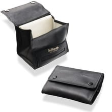 Dr Plumb Black Leather Small Fold Up Box Pouch Tobacco Pouch P35514