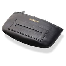 Dr Plumb's Black Leather Zipped Rolling Tobacco Pouch P35520