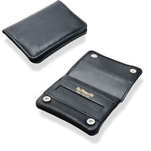 Dr Plumbs Mini Black Leather Rolling Tobacco Pouch P35537