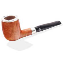 **SOLD OUT** Charles Rattrays Pipe Of The Year 2015, Straight Silver Cap Billiard (9mm Light Grain)