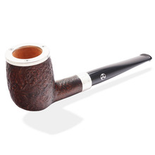 **SOLD OUT** Charles Rattrays Pipe Of The Year 2015, Straight Silver Cap Billiard (9mm Sandblast)