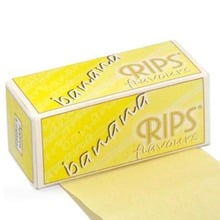 **DISCONTINUED** Rips Banana Flavoured Cigarette papers on a roll