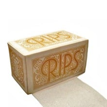 Rips Hemp Regular Cigarette Rolling Papers on a roll