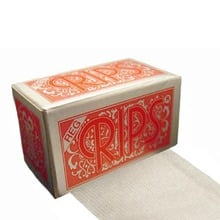 Rips Red (Regular) Cigarette Papers on a roll