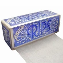 Rips Blue (King Size) Cigarette Rolling Papers on a roll