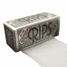 Rips Silver (Slim) Cigarette Papers on a roll