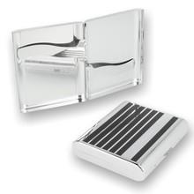 Pierre Cardin P-520 Cigarette/Cigarillo Case Black Lines 105356