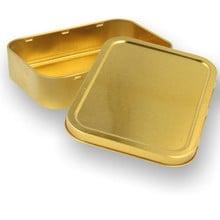 Budget Plain Gold 2oz Tobacco Tin (50g)