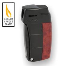 XIKAR Resource II Pipe Lighter 585ABBK Burl & Black