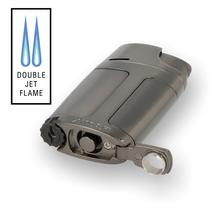 Xikar ELX Windproof Double Torch Flame Lighter 550G2 Gunmetal