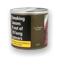 JPS Players Real RED Volume Tubing Tobacco 50g Tub