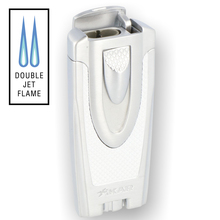 XIKAR Axia Double Flame Windproof Lighter 540WH Pearl