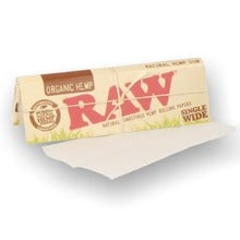 Raw ORGANIC **Single Wide** Un-Bleached Cigarette Papers (Single Pack)