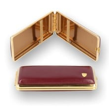 V.H. Luxury Leather Superking / Kingsize Cigarette Case Red (612 502)