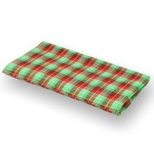 ** British Made ** Budget Tartan Tobacco Pouch Green & Red