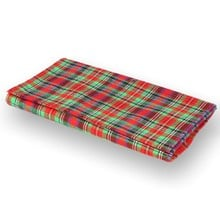 ** DISCONTINUED ** Budget Tartan Tobacco Pouch Blue Green and Red