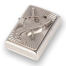 ***DISCONTINUED*** 2003969 Heart With Sword Street Chrome Zippo Lighter
