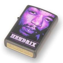 **DISCONTINUED** 29168 Jimi Hendrix Purple Haze Black Matte Zippo Lighter