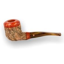 Tom Spanu Sughero Cork Clad Italian Artisan High Grade Briar Pipe 10
