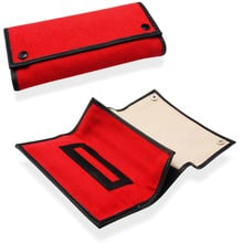 Budget Nylon Hand Rolling Tobacco Pouch Roll Up (P4109R Red)