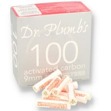 Dr Plumbs 9mm Absorbent Activated Carbon / Charcoal Pipe Filters 100's