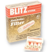 Blitz System 9mm Pipe Filters (Pack of 40 Filters)