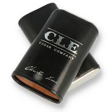 **DISCONTINUED** C.L.E Cigar Company Leather Bound Cedar Lined Travel Cigar Case