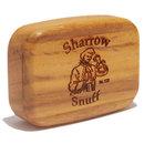Wilsons of sharrow teak wood snuff box