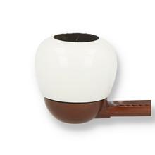 **Limited Edition** Falcon Coloured Apple WHITE Briar Bowl
